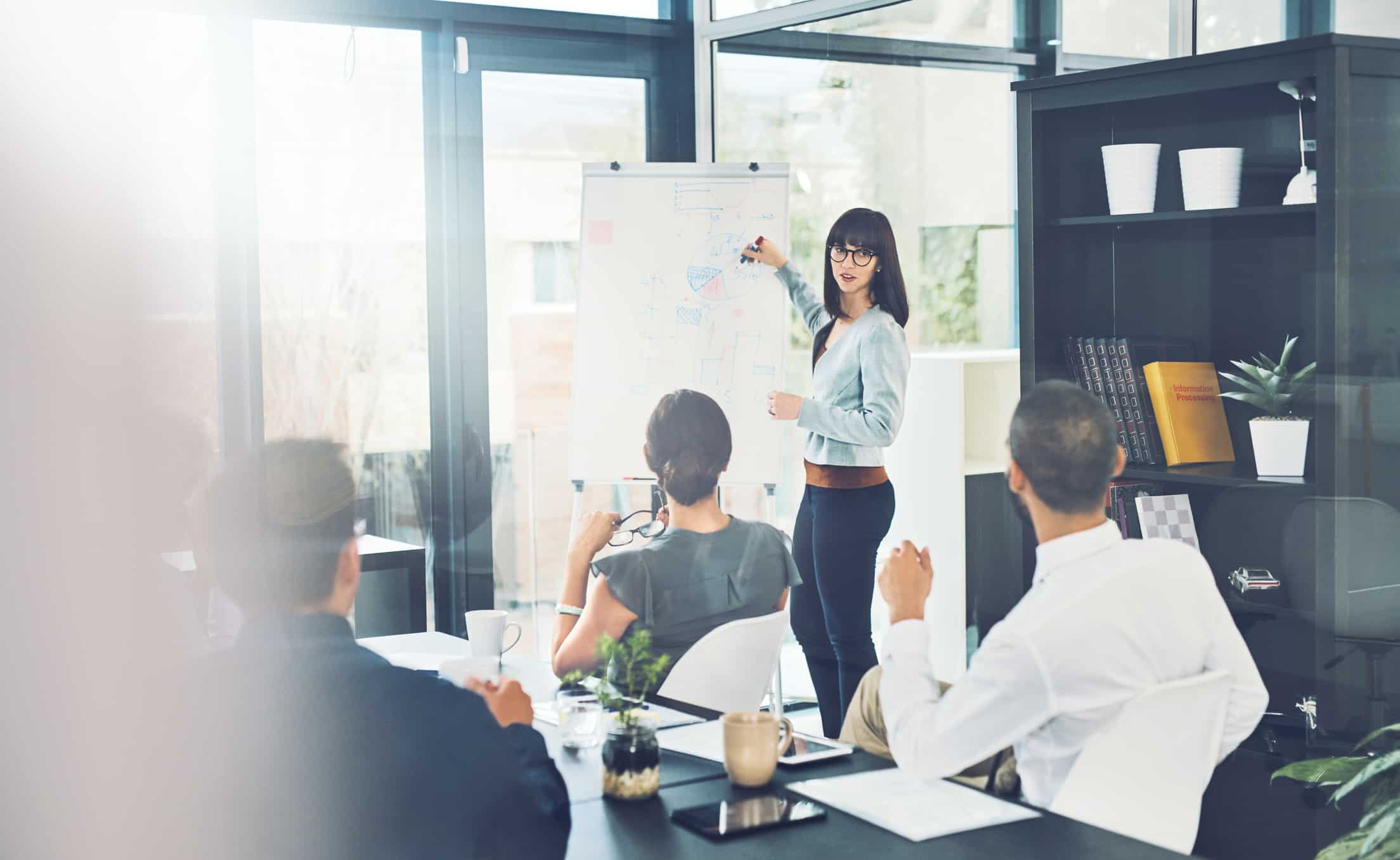 Shot of a group of corporate business people meeting in the boardroom