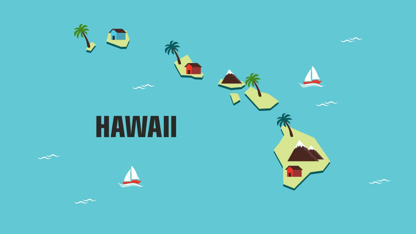 Illustration of Hawaii.