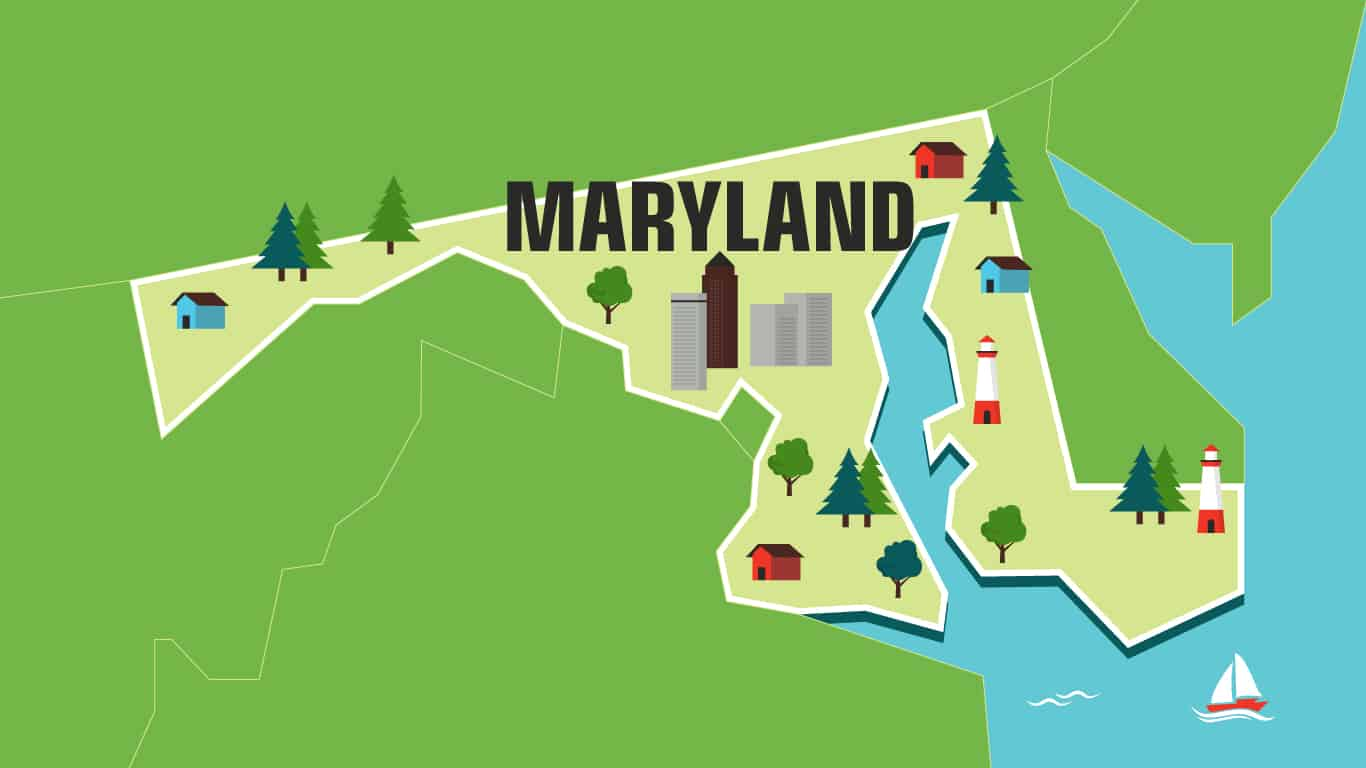 Illustration of Maryland.