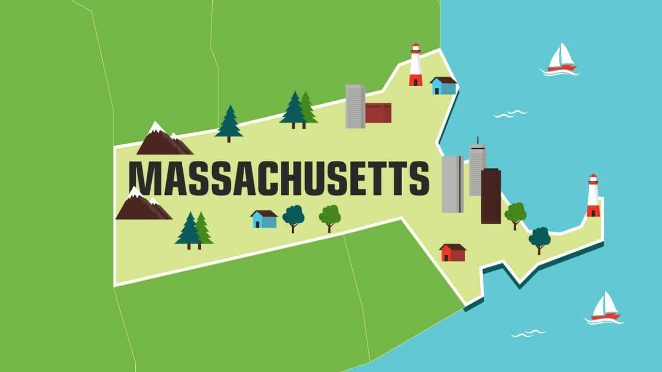 Illustration of Massachusetts.