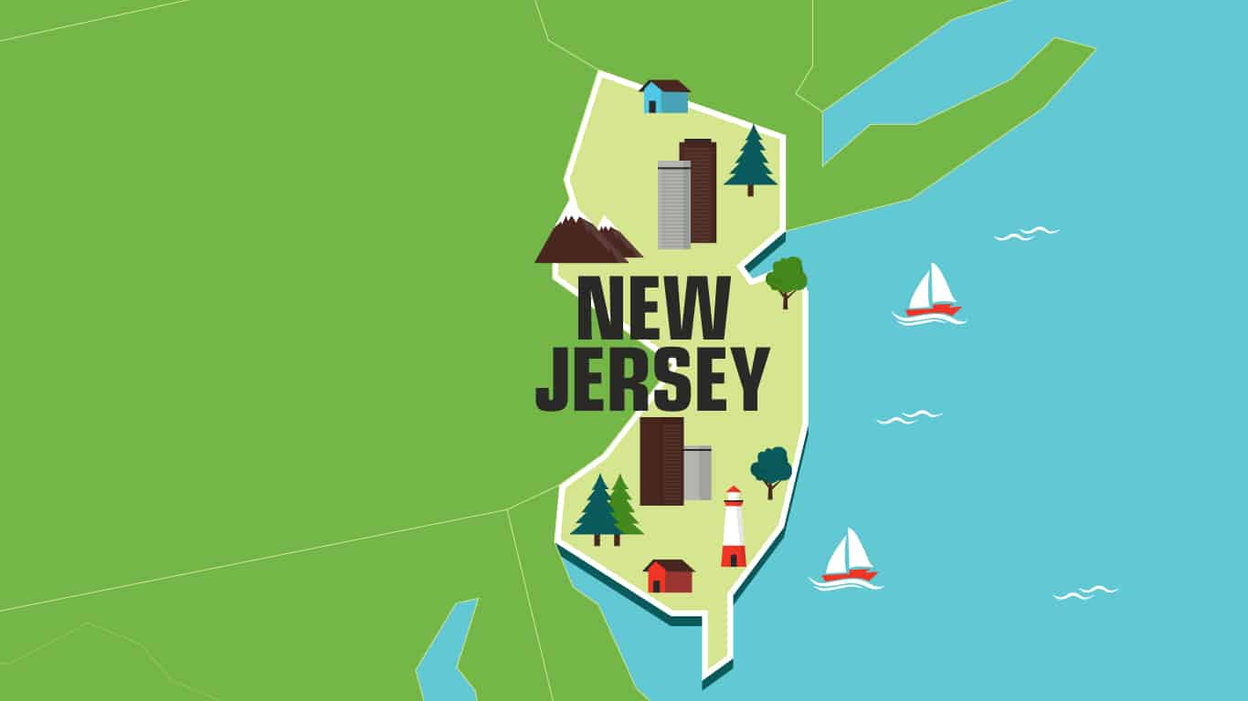 Illustration of New Jersey.
