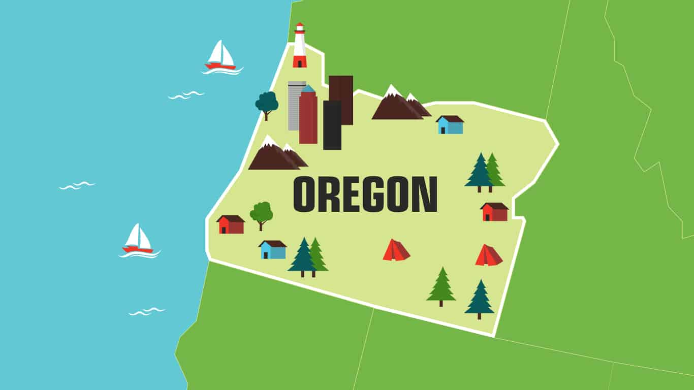 Illustration of Oregon.