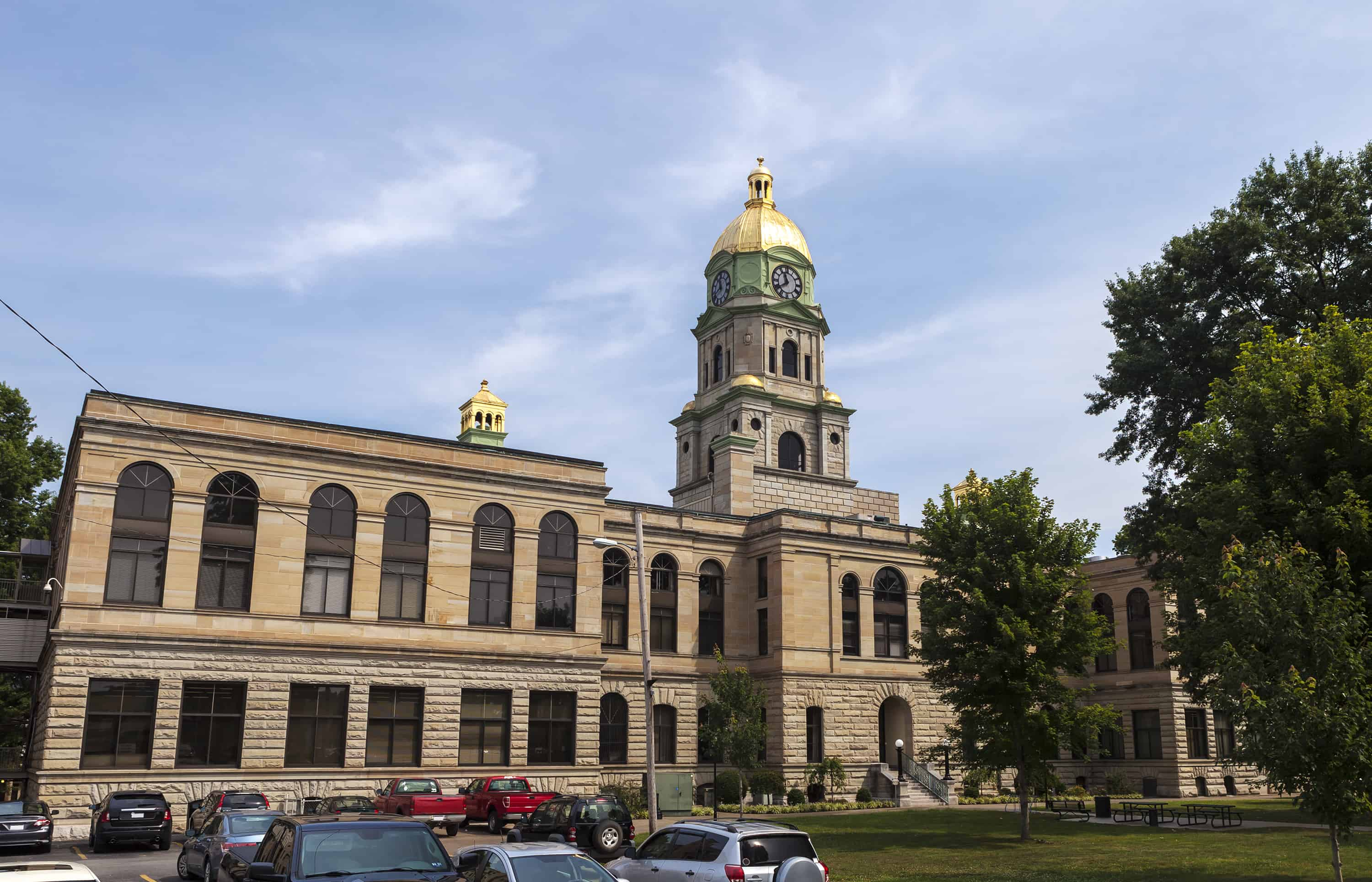 The Cabell County Courthouse in Huntington, West Virginia was built in 1899.